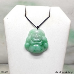 Small jade happy Buddha pendant