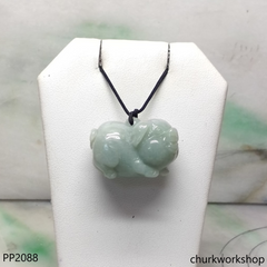 Light green jade pig pendant