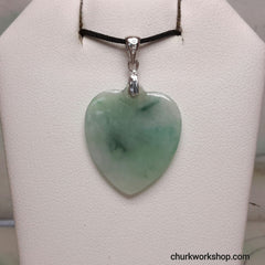 Green jade heart
