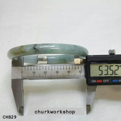 Mixture color jade bangle