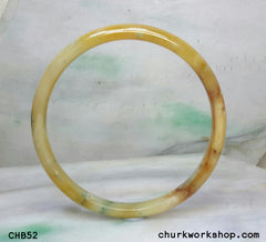 Extra large multi-color jade bangle