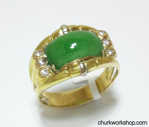 Unisex jade ring, man jade ring