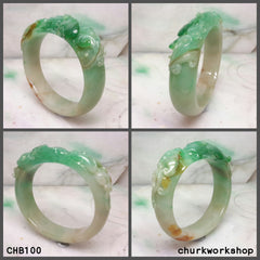 Reseved for Phua     Multi-color jade bangle