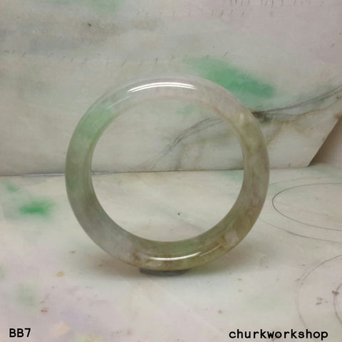Baby jade bangle, multi color baby jade bangle