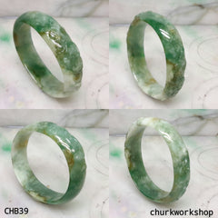 Multi-color jade bangle