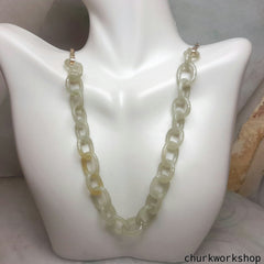 18K gold natural  jade necklace,