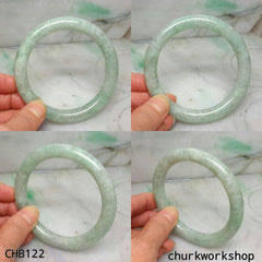 Large light pea green jade bangle