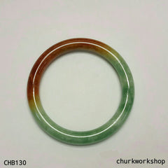 Multi color jade bangle