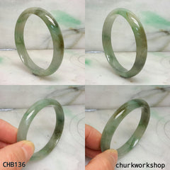 Small multi-color jade bangle