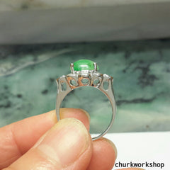 Green color jade ring