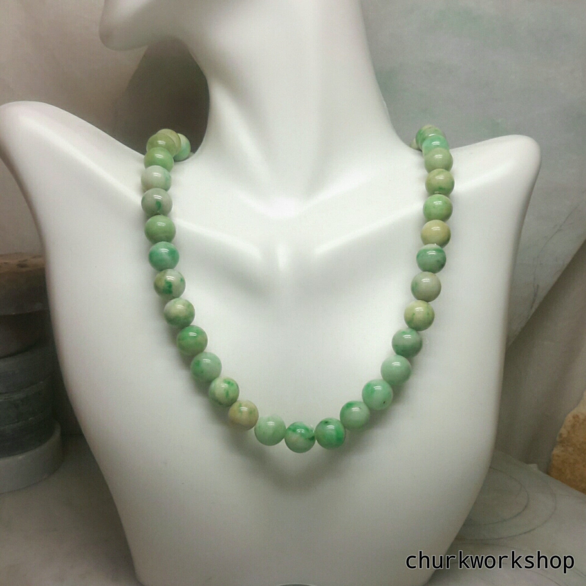 on gem style jade sold zibbet spacer choker lariat by gold pendant beads necklace green