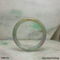 Multi color lavender jade bangle
