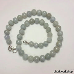 Lavender jade beads necklace