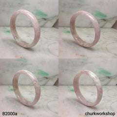 Pink lavender jade bangle