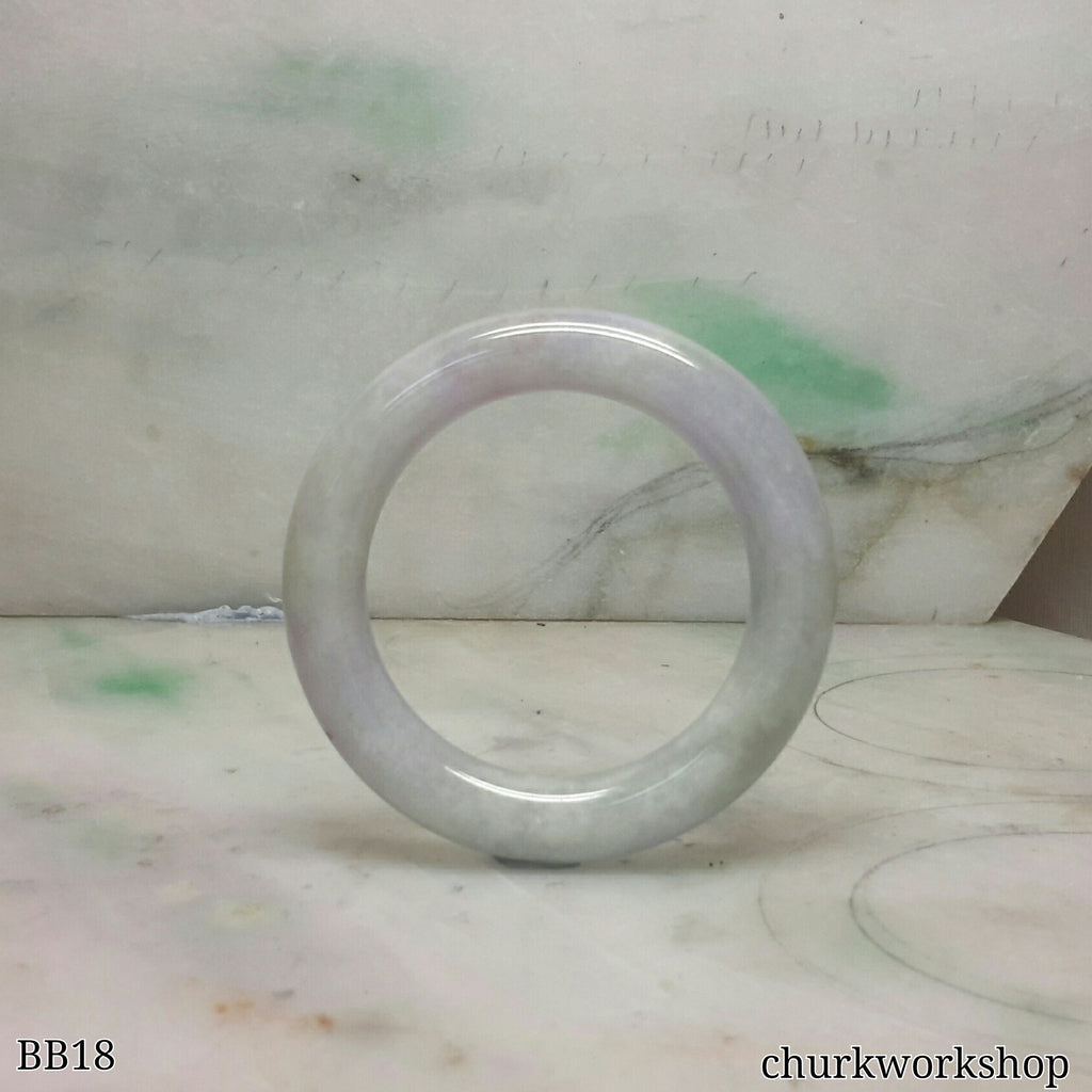 Lavender baby jade bangle