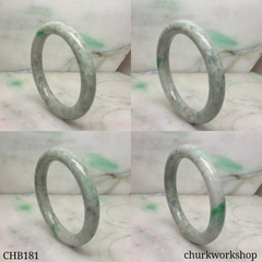 Grayish green jade bangle