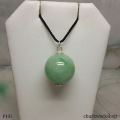 Light green jade bead pendant