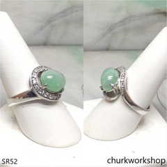 Light green jade ring