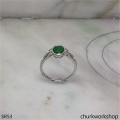 Dark green color jade ring
