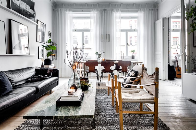 Scandinavian Style in Goteborg living room sig 3