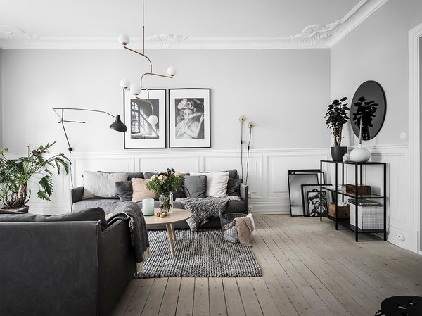 Beautiful Scandinavian style in greys and white
