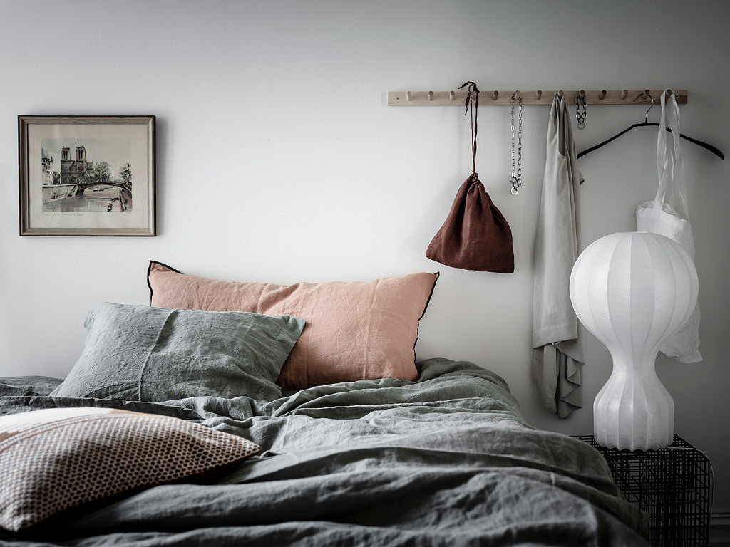 Swedish bedroom with neutral colours