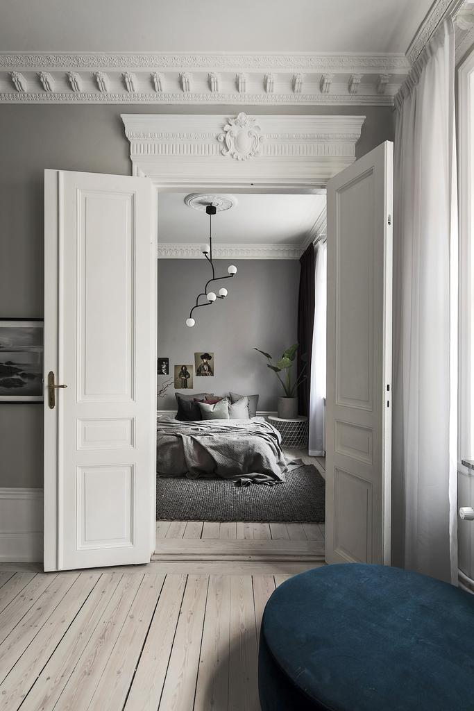 A Peek into the Bedroom of Lovely Stockholm Apartment