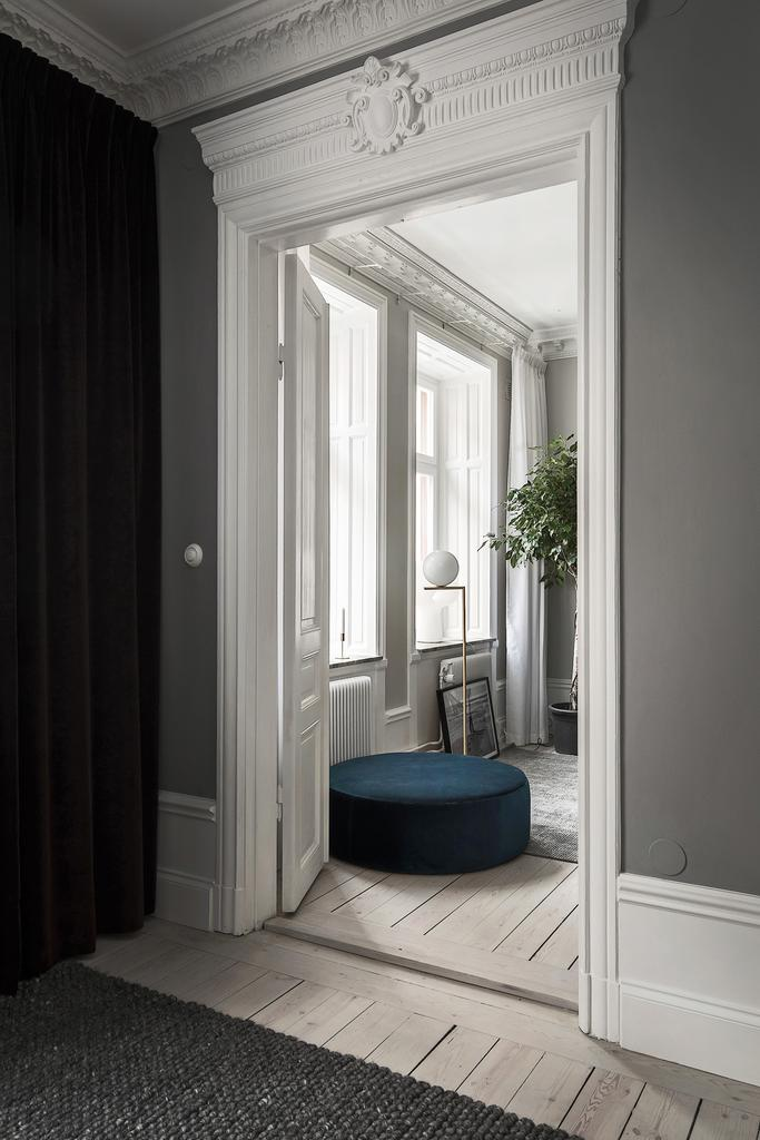 Details of Lovely Stockholm Apartment with Muted Jewel Tones