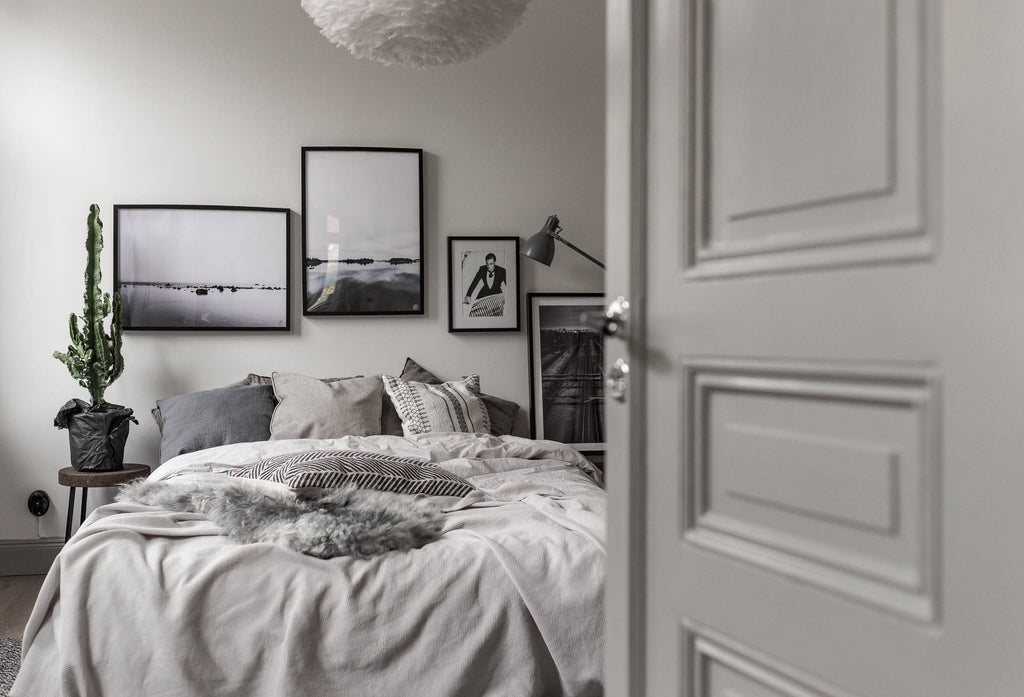 Swedish Bedroom in Soft Greys