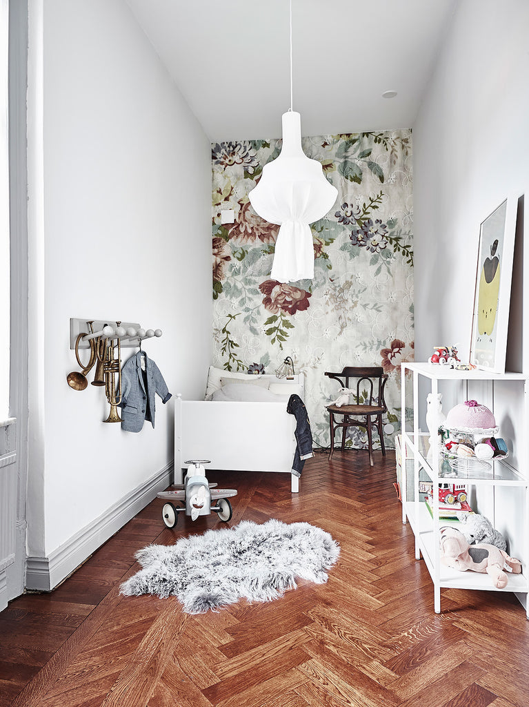 Children's Room with Stunning Wallpaper