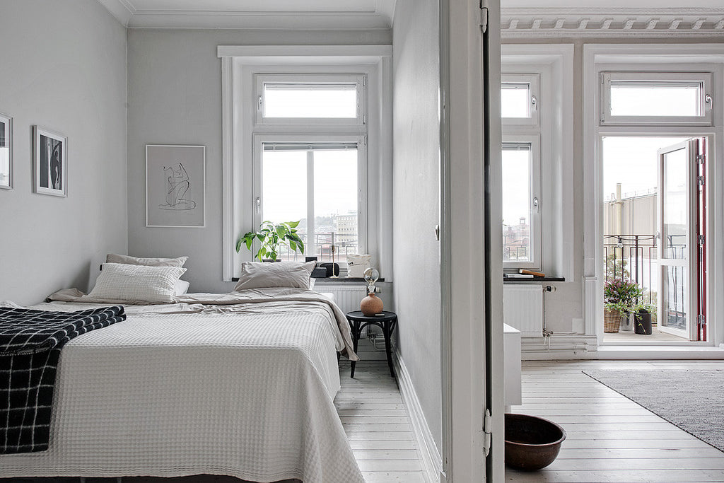 scandinavian style bedroom in swedish apartment surbrunnsgatan 16