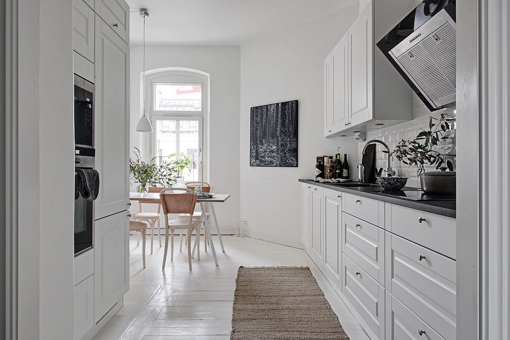 scandinavian style kitchen in swedish apt. surbrunnsgatan 18