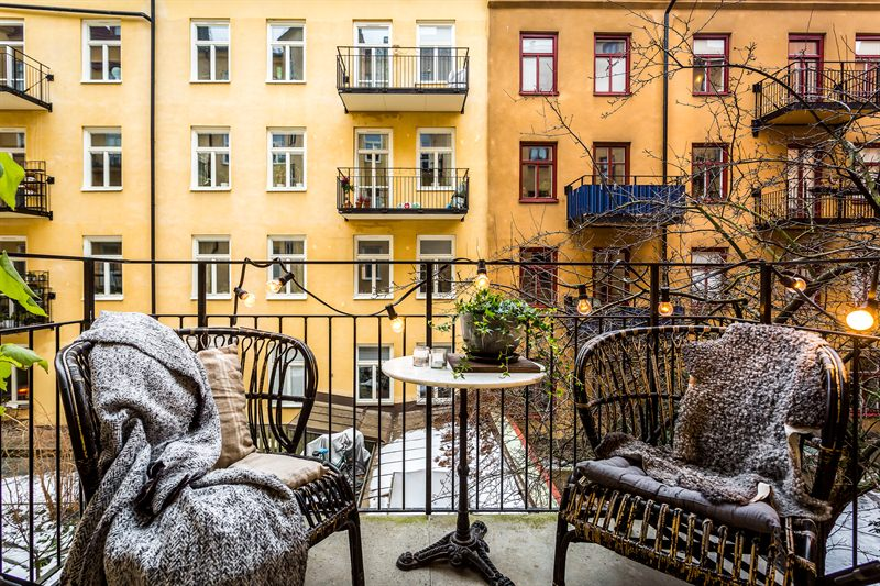Scandinavian Style in Gothenborg balcony sig11