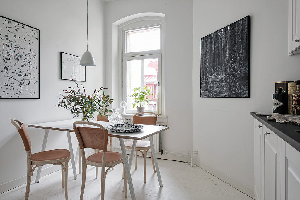 scandinavian style kitchen in stunning swedish apt. surbrunnsgatan 20