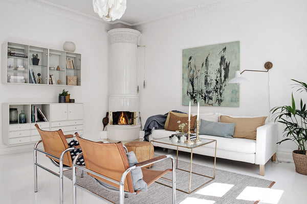 Cosy living room in bright Gothenburg apartment