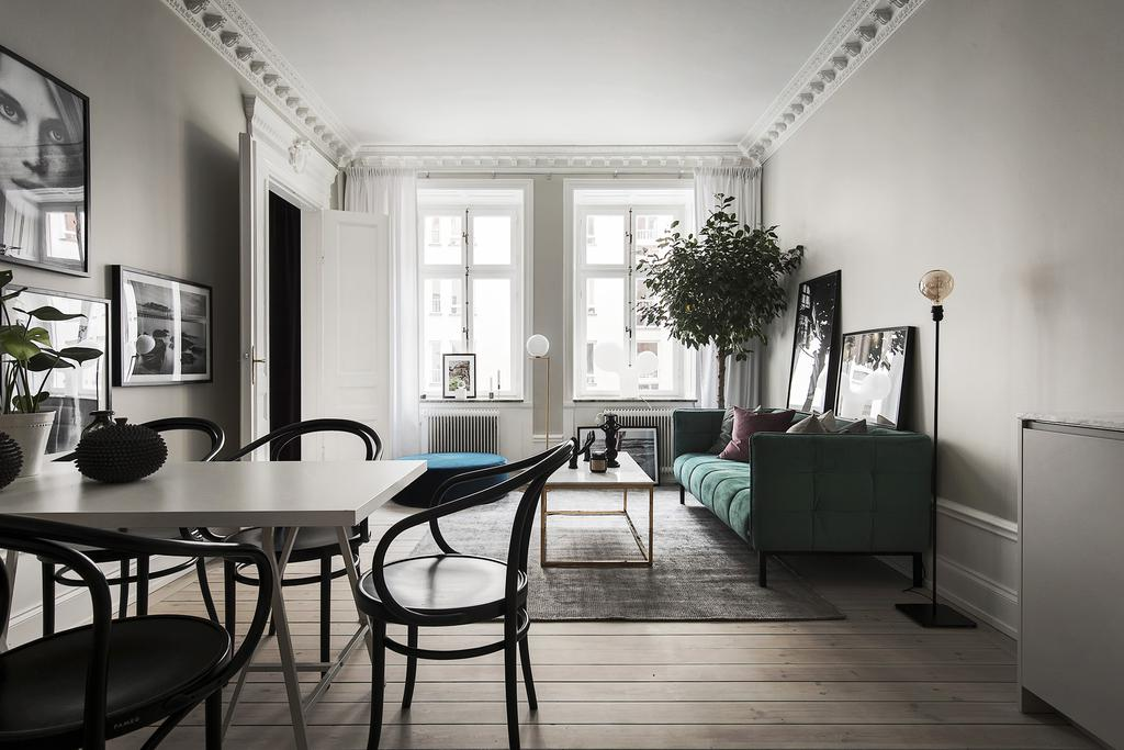 Swedish apartment in Greys and Greens