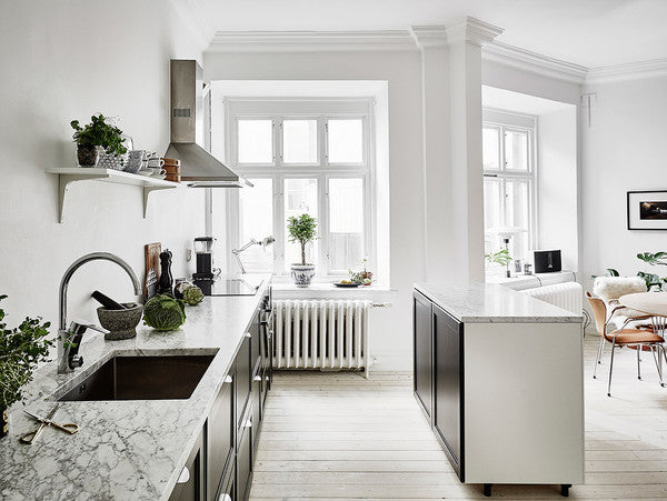 Bright and open Swedish apartment