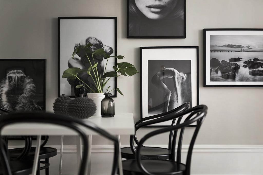 Gallery Wall in Swedish Apartment