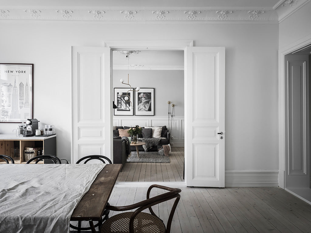 A Casual And Cosy Swedish Apartment A Nordic Mood Gron White - Sleek-and-beautiful-apartment-in-sweden