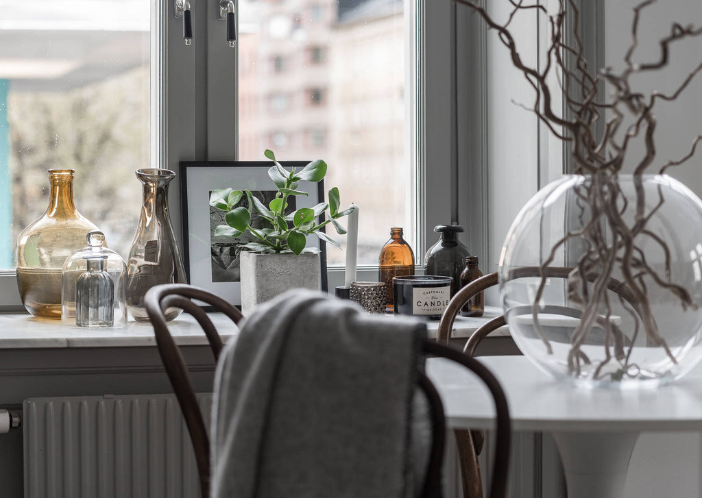 Detail of Dining Area in Lovely Swedish Apartment