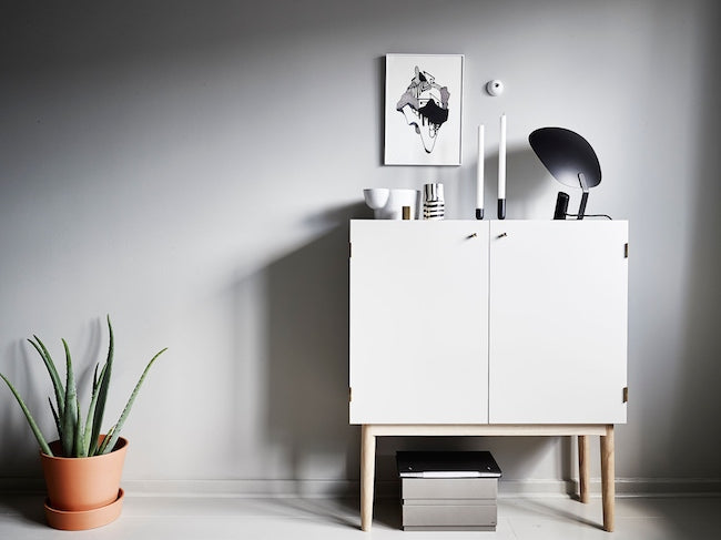 Beautiful sideboard of micro Swedish apartment