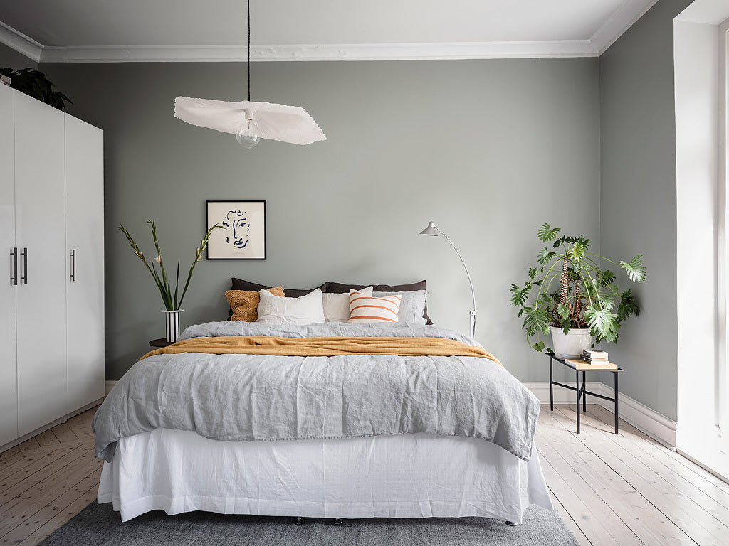 Calm Swedish bedroom