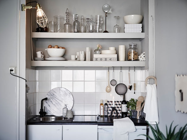 Micro Kitchen of Charming Swedish Apartment