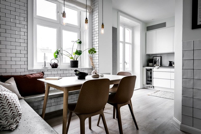 Eating area of Cool Swedish kitchen