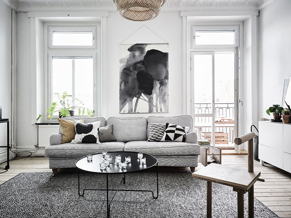 Beautiful living space of Gothenburg family home