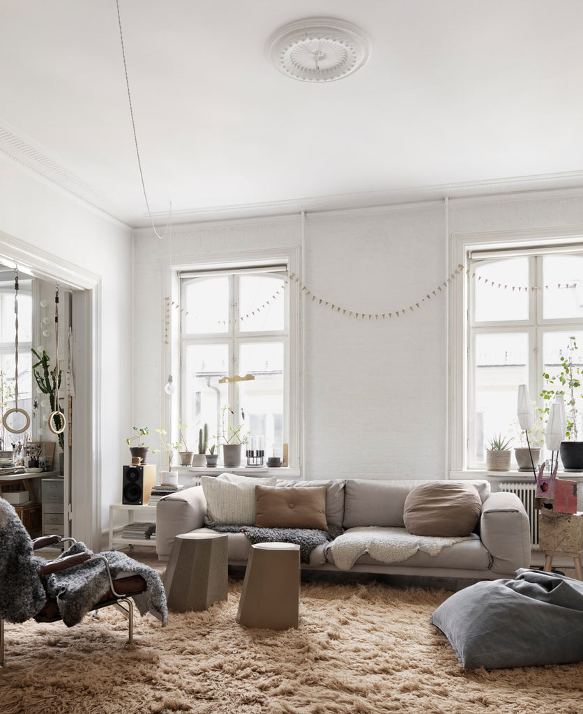 Nina Persson's Eclectic Home in Malmö- living room