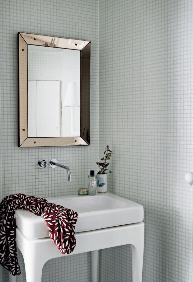 Bathroom in the home of Danish Designer
