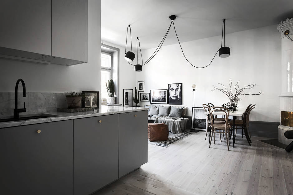 Swedish apartment with grey tones