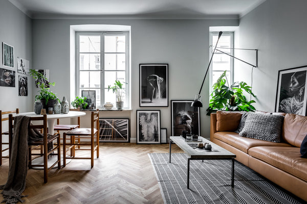 Living area in Stockholm apartment