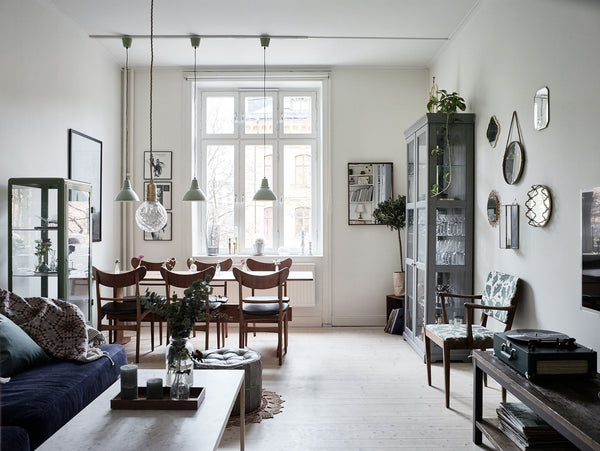 Calm Swedish home with Blues and Greens